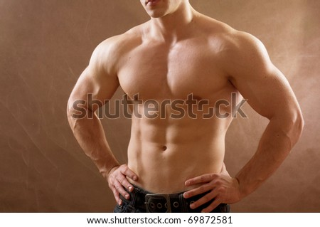 muscular - stock photo