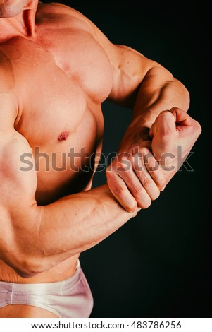 Muscular male body part
