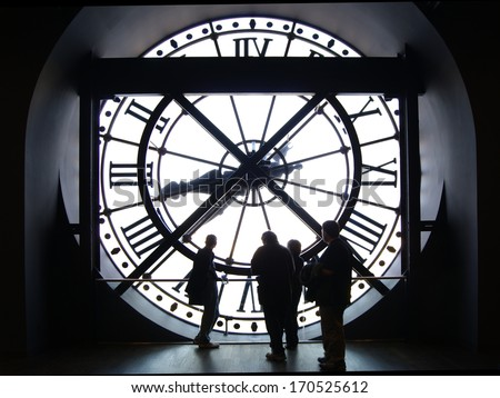Musee d'orsay Clock  - stock photo