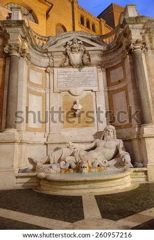 Musei capitolini, statua di Marforio - Roma - stock photo