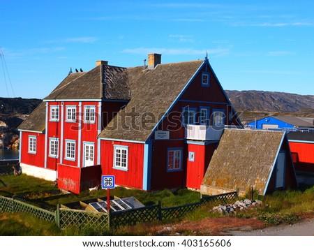 Museum in Ilulissat, Greenland - stock photo