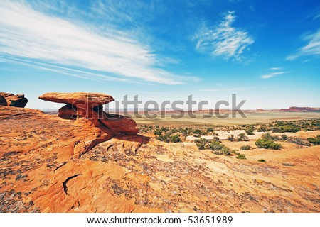 Mushroom Rock - stock photo