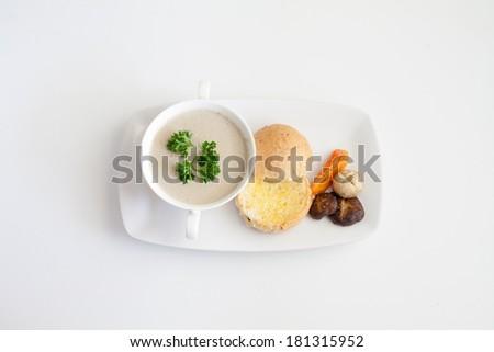 Mushroom Soup - stock photo