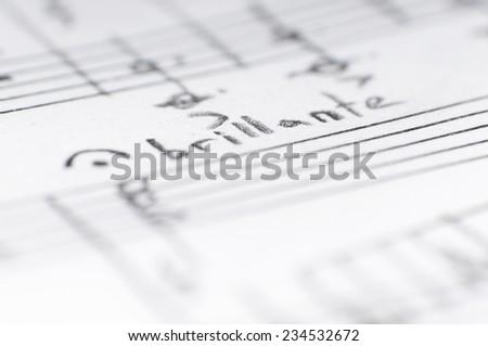Music Background, shallow DOF - stock photo