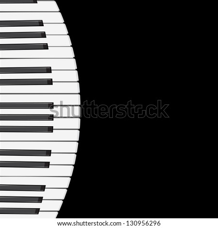 music background with piano keys.  illustration.