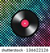 Music background with vinyl record - stock vector