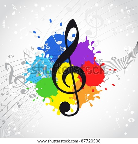 Music color background - stock photo