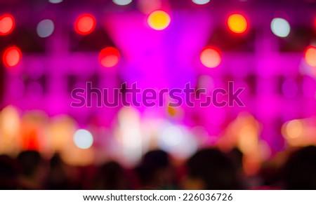 Music concert background bokeh blur - stock photo