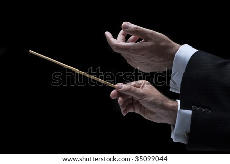 music conductor - stock photo