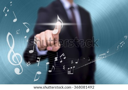 music download - stock photo