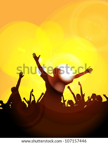 Music event - stock photo