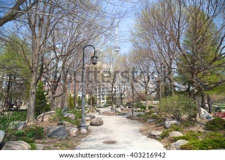 Music Garden in Toronto downtown. - stock photo