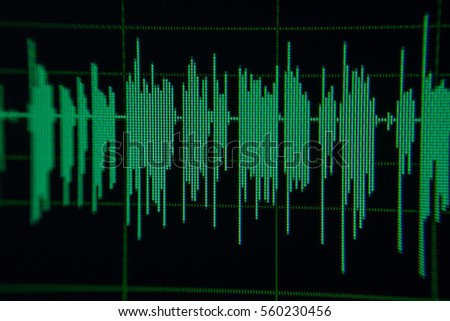 Music green waves on background,audio wave