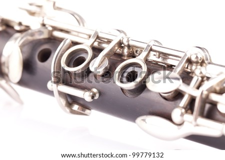 music instrument clarinet - stock photo