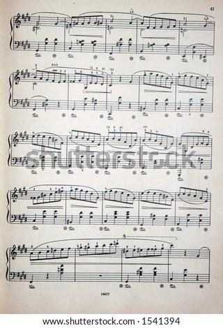 music notes 2 - stock photo