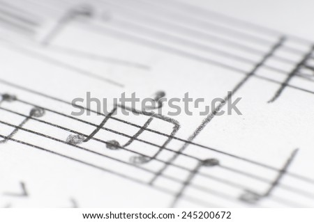 Music notes - stock photo