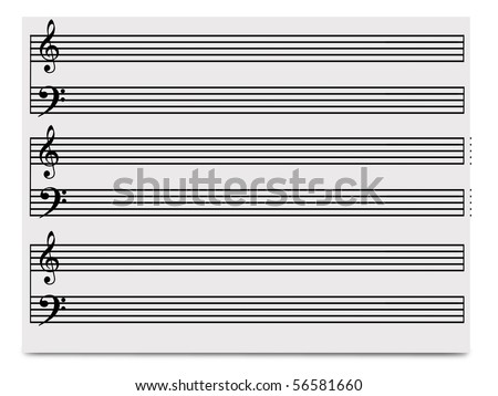 music paper - stock photo