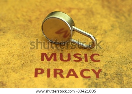 Music piracy concept