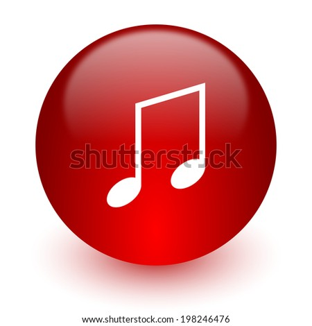 music red computer icon on white background