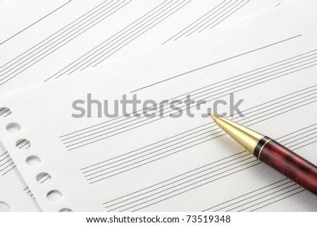 music score paper