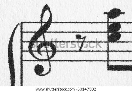 Music sheet background - stock photo