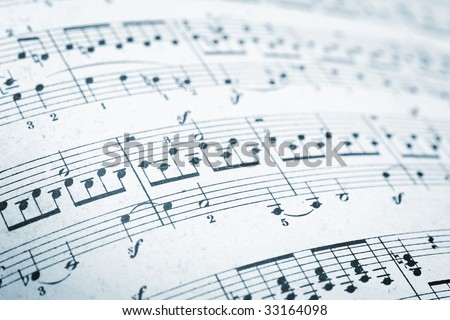music sheets pages macro - stock photo