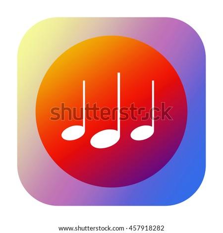 Music sound icon - stock photo