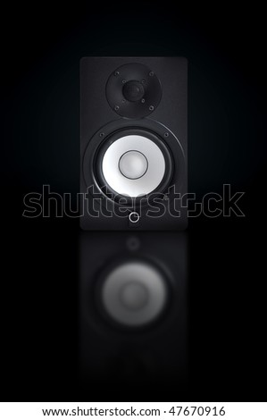 Music speakers, music equipment, cool design with reflection