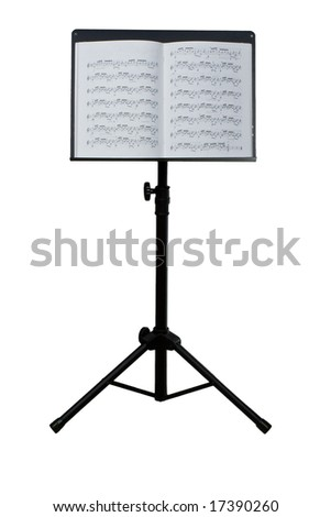 Music stand - stock photo