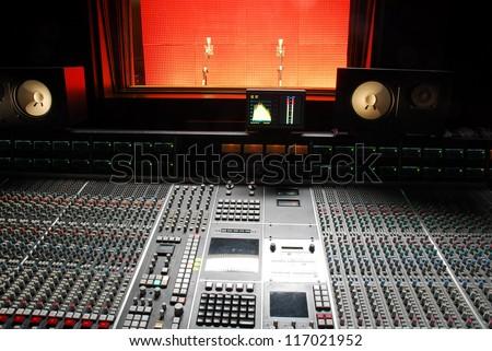 music studio - stock photo