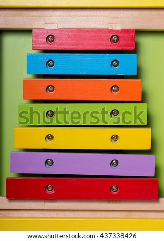 Music Toy for young children / Toy - stock photo
