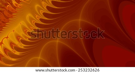 Music Waves - An abstract fractal design representing music waves in an opera hall. - stock photo