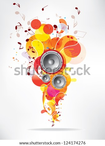 Musical abstract background - stock photo