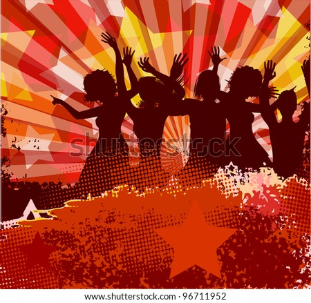 Musical background. (raster copy) - stock photo