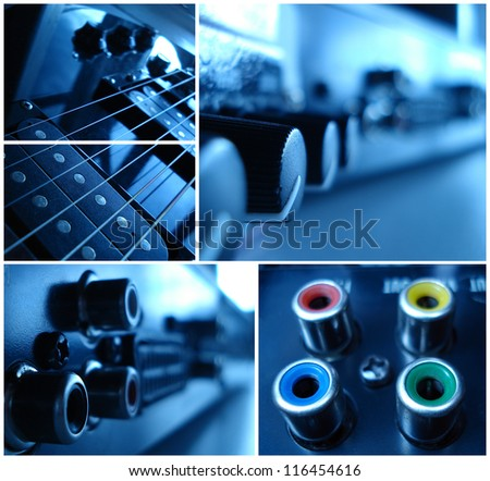 musical collage - stock photo