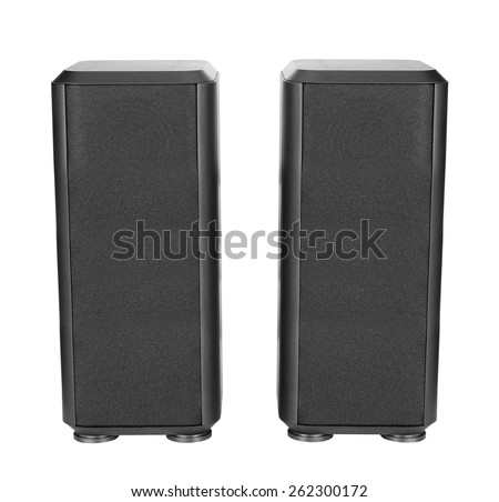 musical columns isolated - stock photo