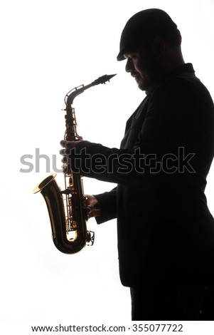 musical instruments - saxophone - valves and tubes - mouthpiece for playing