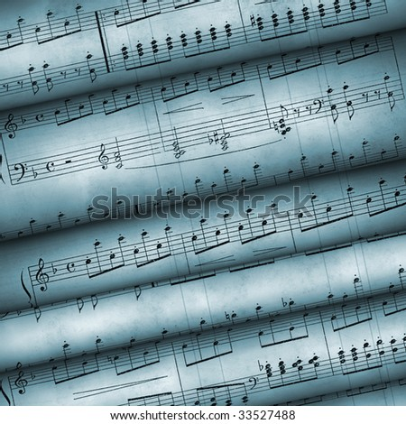 Musical notes. Notes are created in the end of 18 centuries - stock photo