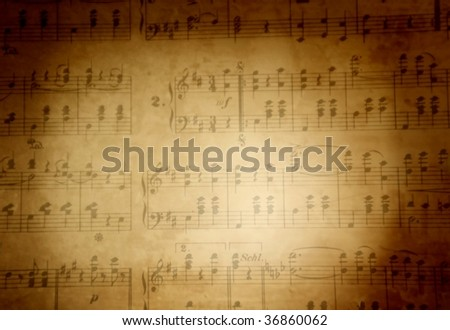 Musical score background - stock photo
