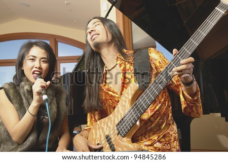 Musicians performing - stock photo
