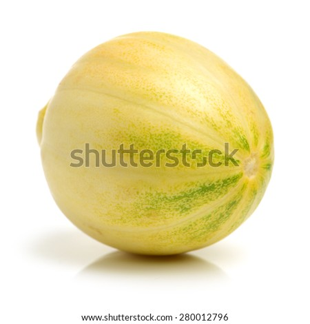 muskmelon on white background - stock photo