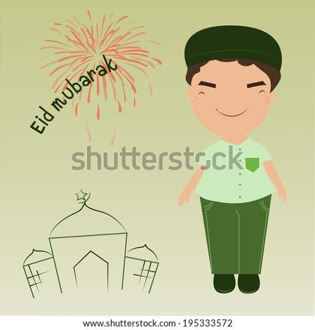 Muslim cartoon - stock photo