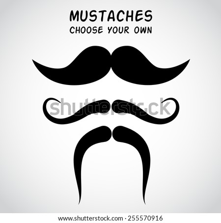 Mustaches - choose your own.  - stock photo