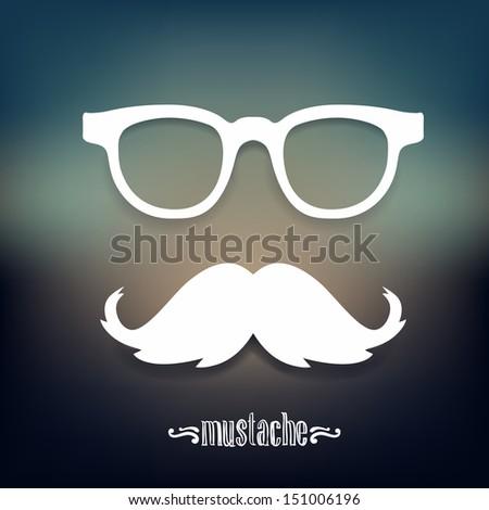 Mustaches, sunglasses illustration .bitmap version  - stock photo
