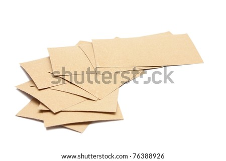 Mustard plasters isolated on white - stock photo