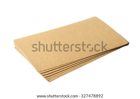 Mustard Plasters Isolated on White Background - stock photo