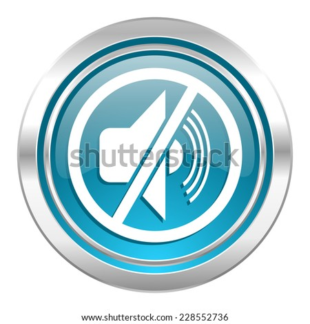 mute icon, silence sign  - stock photo
