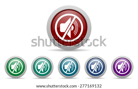 mute icon silence sign  - stock photo