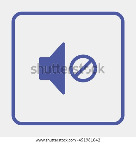 Mute speaker icon. - stock photo
