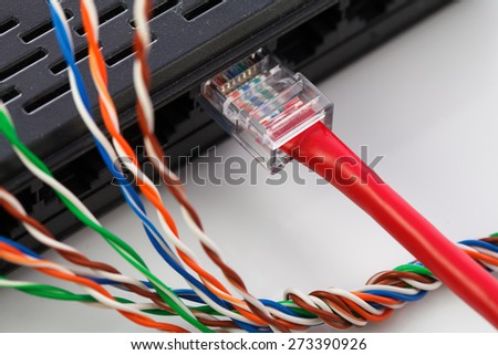 muti-color electronic wire and lan conection